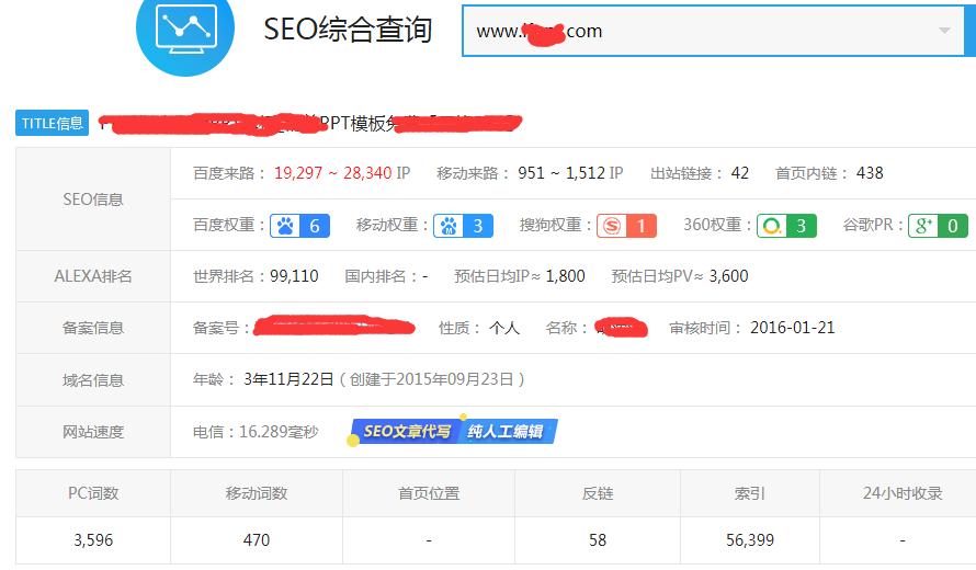 ppt网站seo案例分析展示