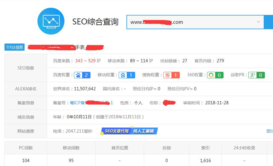 数码手表网站实战seo案例